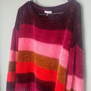 Maurices color block chenille sweater
